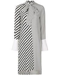 Karl Lagerfeld - Striped Shirt Dress - Lyst