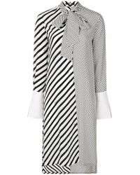 Karl Lagerfeld - Striped Shirt Dress - Lyst