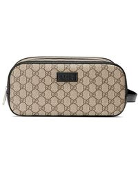366c4d03ffa5 Gucci Large Gg Supreme Stars Canvas Toiletry Case in Natural for Men ...