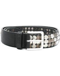 DIESEL - Disc-embellished Belt - Lyst
