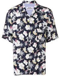 870be5088 Jem Men's Snoopy Graphic-print Short-sleeve Shirt in White for Men ...