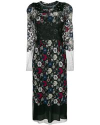 Antonio Marras - Embroidered Floral Dress - Lyst