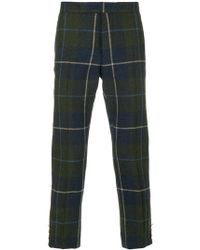 Thom Browne - Pintuck Large Buffalo Tartan Check Slim Fit Wool Trouser - Lyst