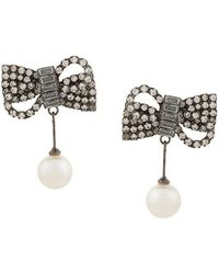 Jennifer Behr - Pearl Drop Earrings - Lyst