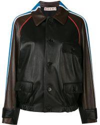 Marni - Shoulder Stripe Leather Bomber - Lyst