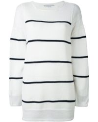 Stella McCartney - Deconstructed Striped Sweater - Lyst