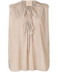 Erika Cavallini Semi Couture - Ruffled Front Blouse - Lyst