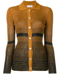 Wales Bonner - Striped Fitted Cardigan - Lyst