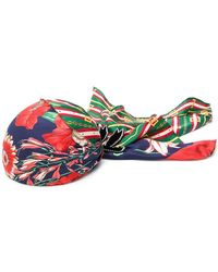 Gucci - Floral Chain Link Printed Headscarf - Lyst