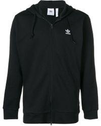 adidas - Originals Trefoil Zip Hoodie - Lyst