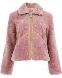 AALTO - Shearling Zip-up Jacket - Lyst