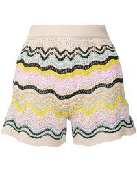 M Missoni - Striped Knit Short Shorts - Lyst