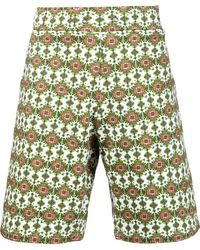 Givenchy - Carpet Print Bermuda Shorts - Lyst