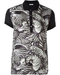 Moncler - Animal Print Polo Shirt - Lyst