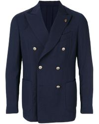 Gabriele Pasini - Ribbed Double-breasted Blazer - Lyst