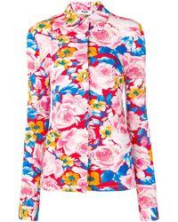MSGM - Camisa con motivo de rosas - Lyst