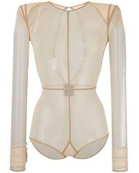 Ann Demeulemeester - Soft Tulle Bodysuit - Lyst