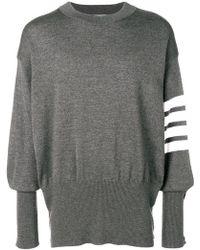 Thom Browne - 4-bar Oversized Wool Pullover - Lyst
