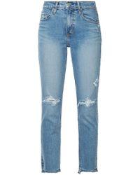 Nobody Denim - Cropped-Jeans mit ausgefranstem Saum - Lyst