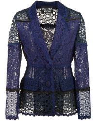 Boutique Moschino - Floral Lace Blazer - Lyst