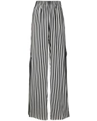 FEDERICA TOSI - Striped Palazzo Trousers - Lyst