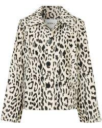 Goen.J - Leopard Print Faux-fur Jacket - Lyst