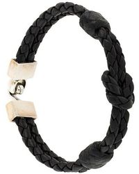King Baby Studio - Hook Clasp Square Knotted Bracelet - Lyst
