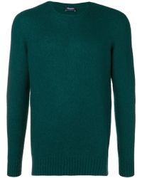 Drumohr - Crew Neck Brushed Sweater - Lyst