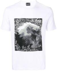 EA7 - Eagle Print T-shirt - Lyst