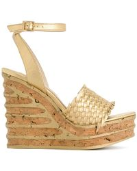 Paloma Barceló - Woven Wedge Sandals - Lyst