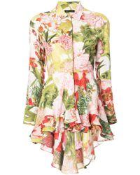 Josie Natori - Paradise Floral High Low Shirt - Lyst