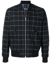 PS by Paul Smith - Check Print Bomber Jacket - Lyst