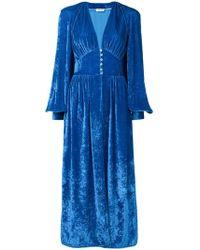 Attico - Velvet Robe Dress - Lyst