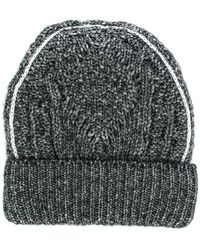 9e4d5dc4298 Lyst - Mm6 By Maison Martin Margiela Ribbed Beanie in Black