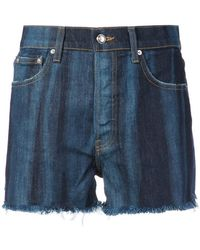10 Crosby Derek Lam - Drew High-rise Classic Denim Short Pinto - Lyst