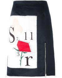 Au Jour Le Jour - Front Print Skirt - Lyst