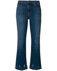 J Brand - 'selena' Cropped Boot Cut Jeans - Lyst