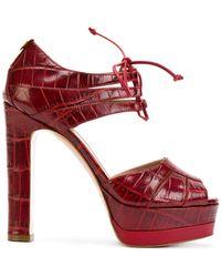 Twin Set - Lace-up Platform Sandals - Lyst