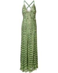 Temperley London - Beaded Sweetheart Neck Evening Dress - Lyst