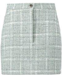 Natasha Zinko - Tweed Fitted Mini Skirt - Lyst