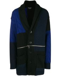 Alexander McQueen - Chunky Knit Buttoned Coat - Lyst