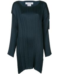 we11done - Micro Pleated Shift Dress - Lyst