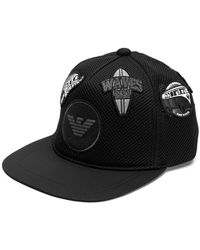 81a95343384 Emporio Armani - Logo Patches Hat - Lyst