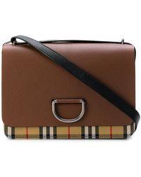 Burberry - Foldover Checked Shoulder Bag - Lyst