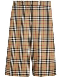 Burberry - Vintage Check Wool Tailored Shorts - Lyst