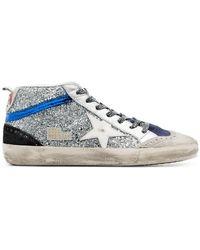 Golden Goose Deluxe Brand - Silver Glitter Mid Star Sneakers - Lyst