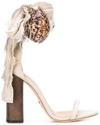a112bb4dc27 Lyst - Chloé Women s Lauren Suede Ankle-strap Espadrille Wedge ...