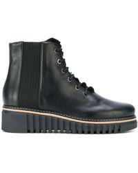 Loriblu Lace-up Platform Boots - Black