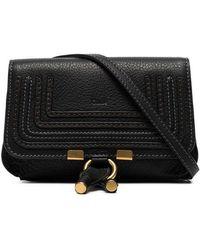 b8a5164b Chloé Marcie Leather Cross-Body Bag in Black - Lyst