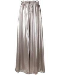 Sara Battaglia - Wide Leg Drawstring Trousers - Lyst